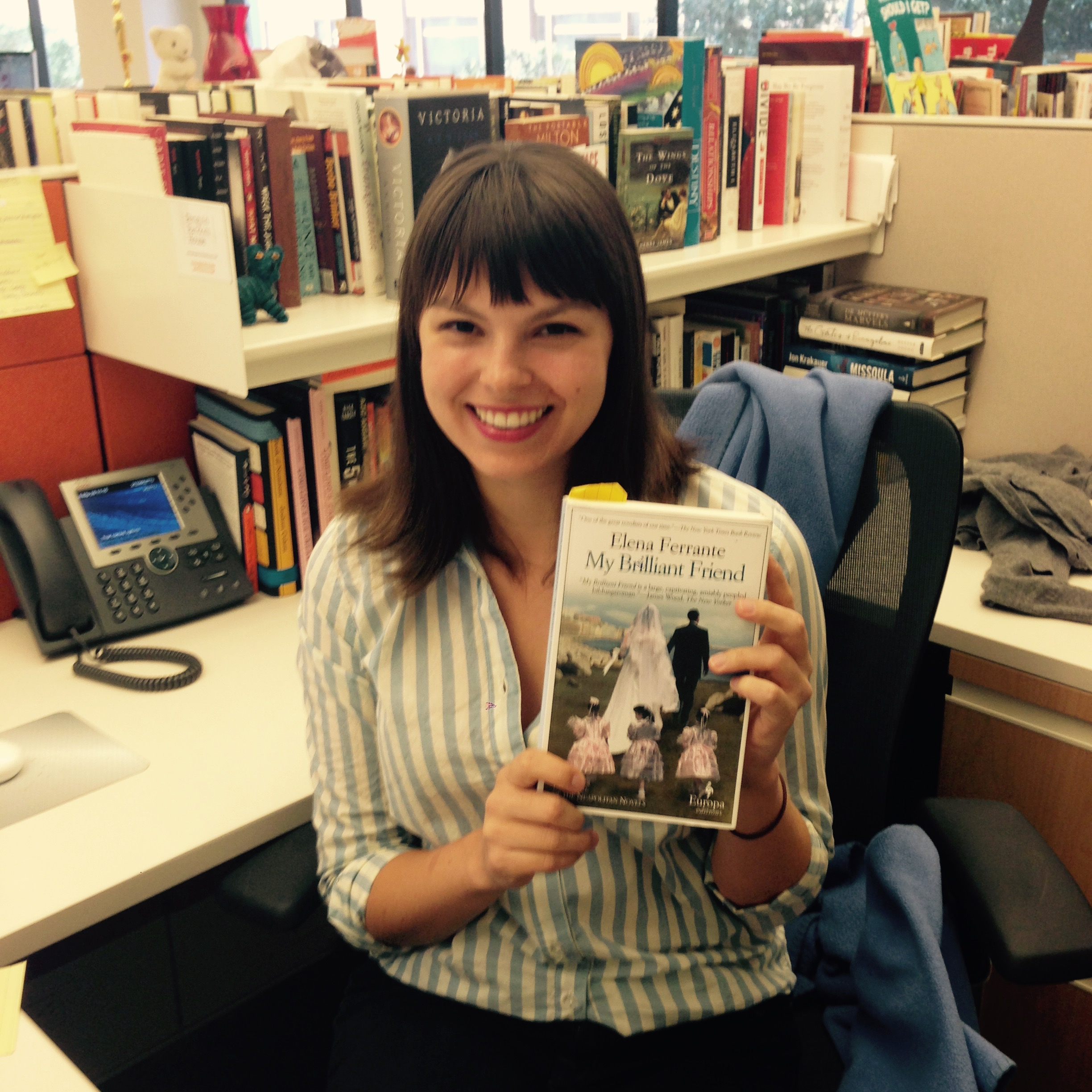 Amy In Online Consumer Marketing Is Reading My Brilliant Friend By Elena  Ferrante