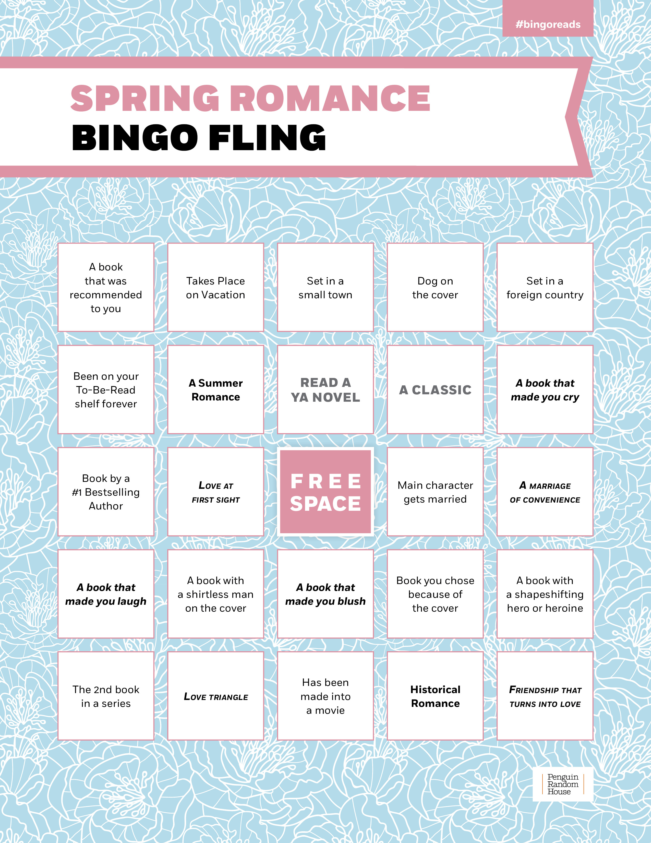 Penguin Random House Book Cover Competition ~ Book bingo penguin random house