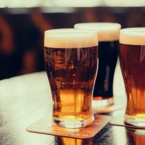 Drinking at a bar