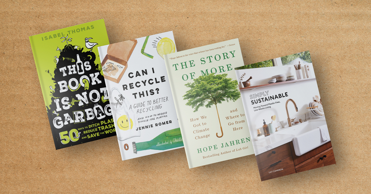 Book covers for sustainability books