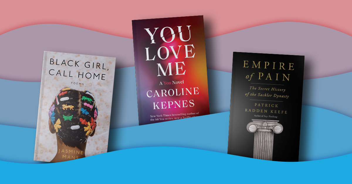 Book covers for Black Girl, Call Home, You Love Me, and Empire of Pain