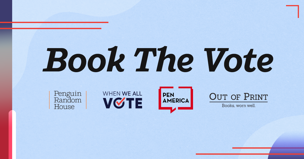 Book the Vote text with design
