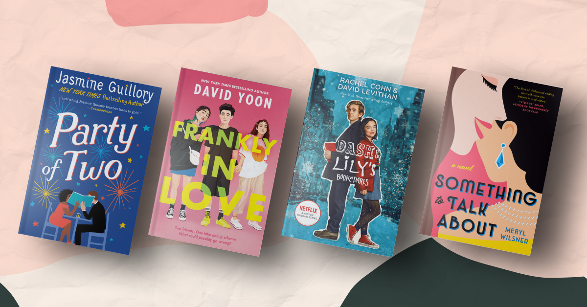 Book Covers for Party of Two, Frankly in Love, Dash & Lily's Book of Dares, and Something to Talk About