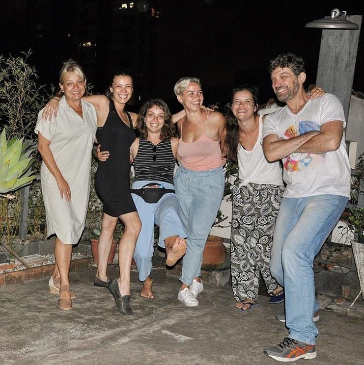 Gabriella Burnham with family in São Paulo 1