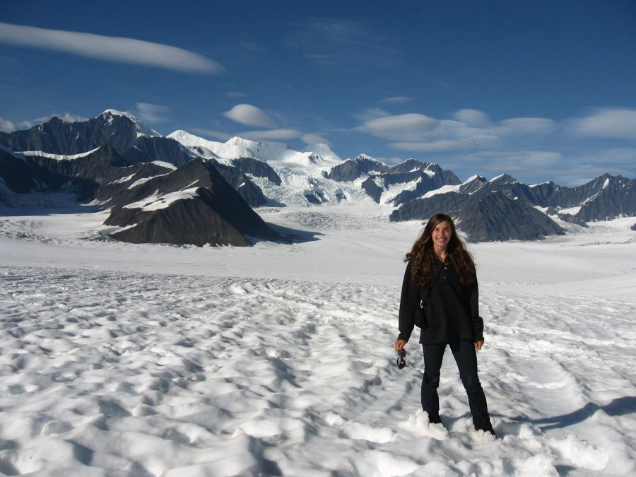 The essayist during her time in Alaska. Courtesy of Aidan Campbell.1