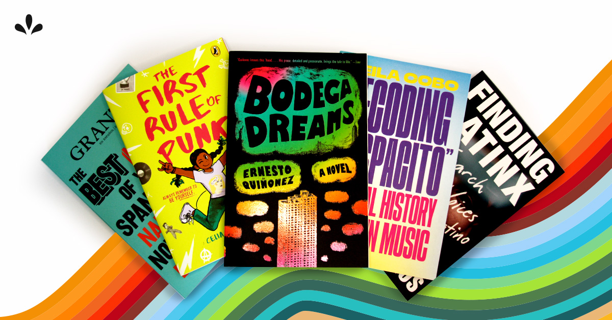Book covers for Latinx Heritage Month page